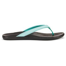 OluKai Ho'opio Sandals Dame lagoon/black